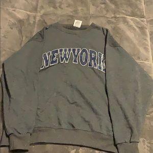New York Crew Neck Sweatshirt